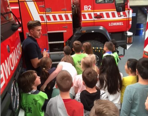 4A op bezoek bij de brandweer. 17/05/2018