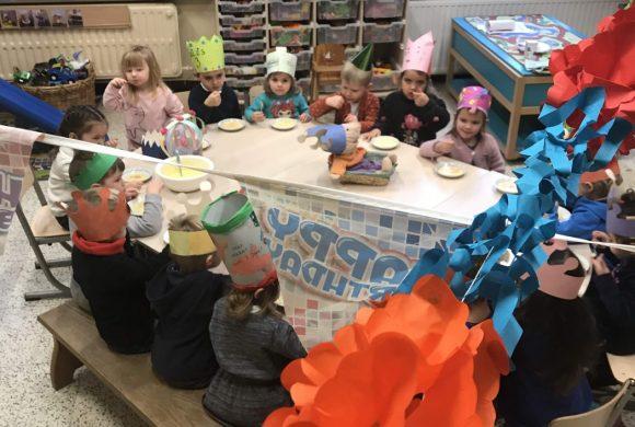 Verjaardagsfeest voor klaspop Jules in klas C2