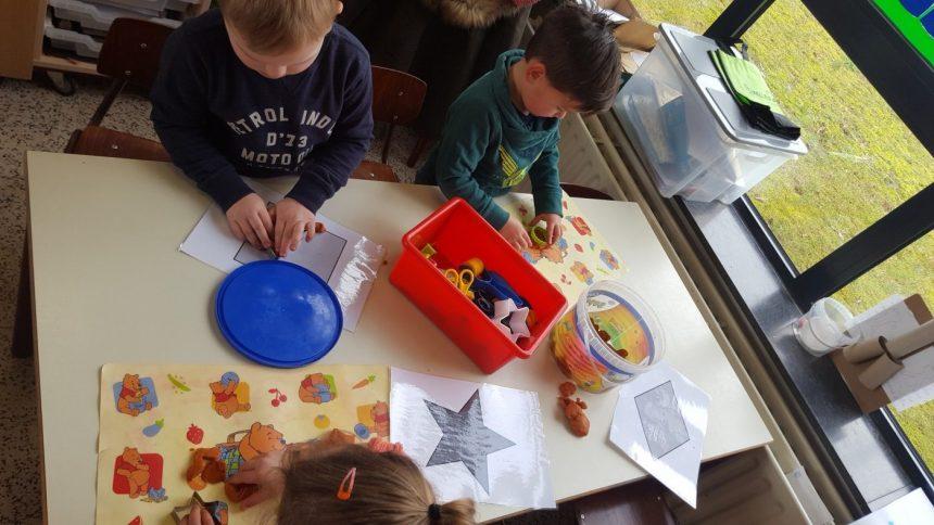 Thema 'Vormen en kleuren' in klas E2